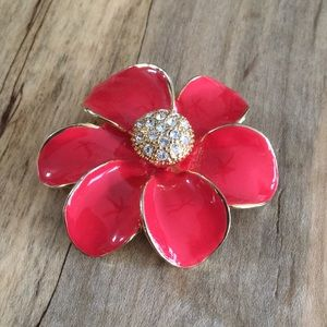 Jewelry - Red Flower Pin